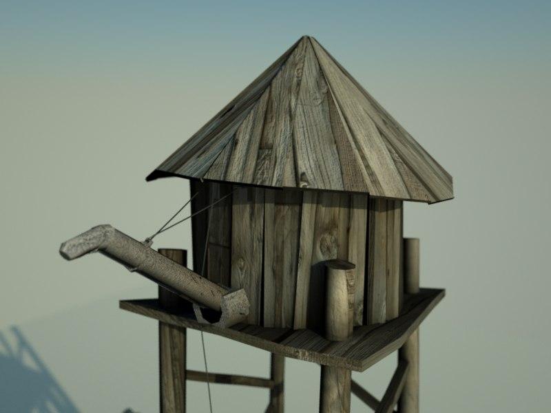 3d far water tower model