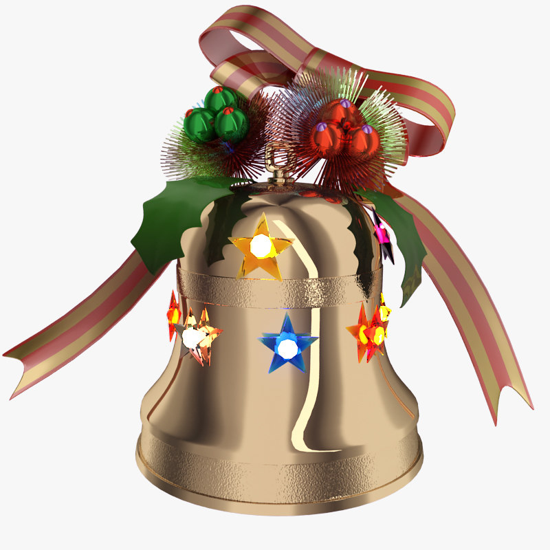 3d christmas bell
