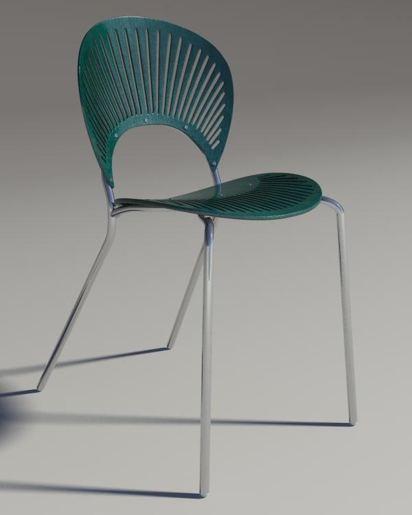 chair trinitad style green 3d model