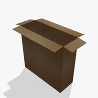 cardboard box 3d ma
