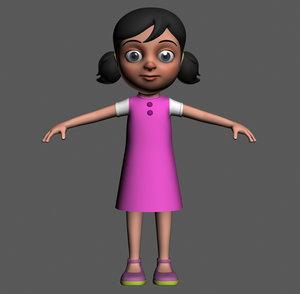 cartoony girl character max