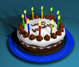 birthday cake 3d c4d
