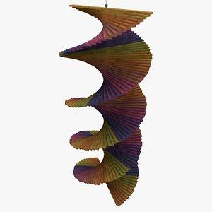 helix pendant ornament 3d c4d