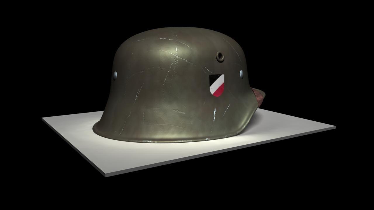 german helmet 3d obj