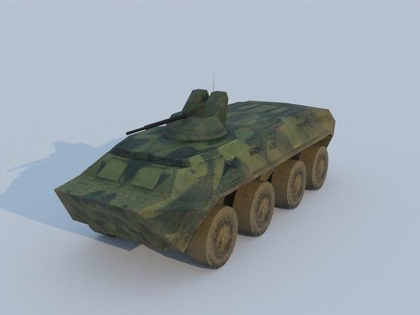 apc tanks vehicle 3d model