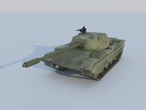 type 69 battle tank 3d model