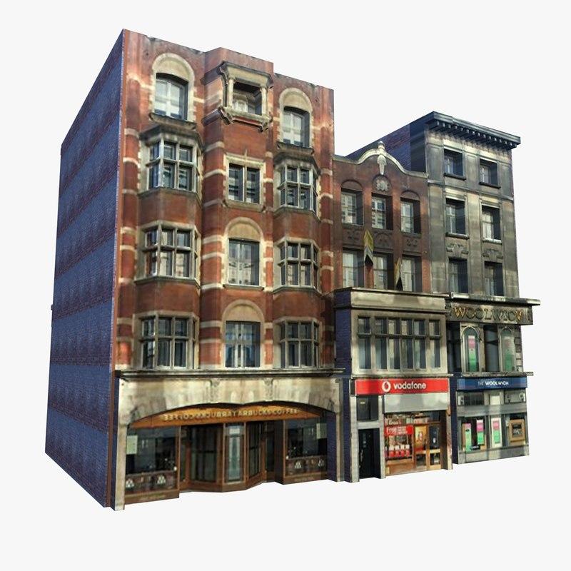 english shops buildings c4d