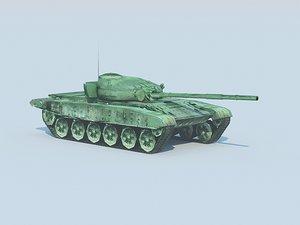 t-72m battle tank 3d model
