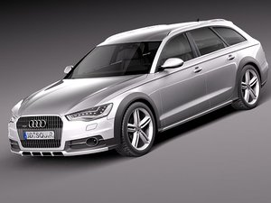 3d model audi a6 allroad quattro