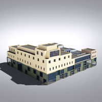 3d modern generic building model