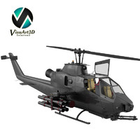 3ds max bell ah1 cobra helicopter