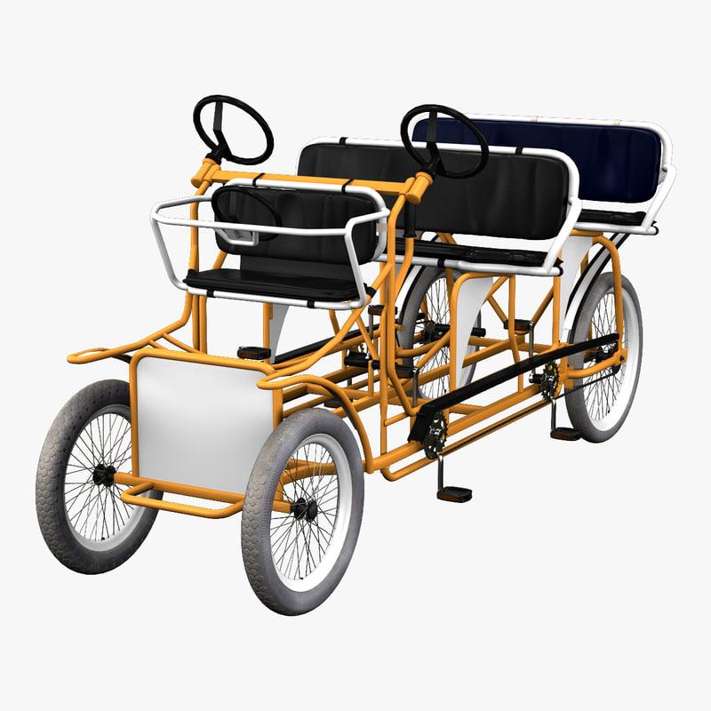 bicycle rickshaw 3d c4d