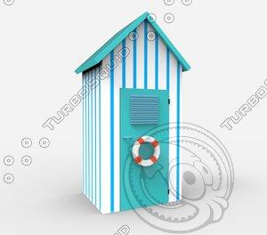 3d model beach cabin