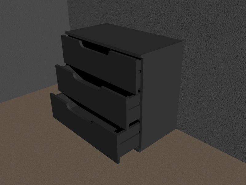3d model dresser