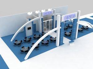 3d model fair stand