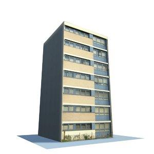 3d model english urban building