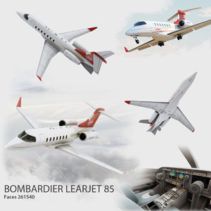 3d bombardier learjet 85 airplane aircraft model