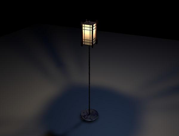 c4d japanese lantern light