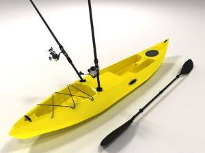fishing kayak obj