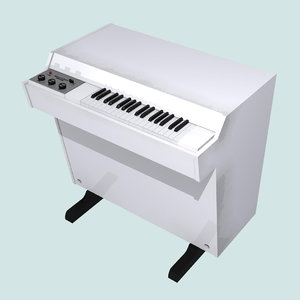 3d model mellotron vintage keyboard