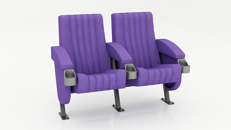 3d model of seats auditorium school