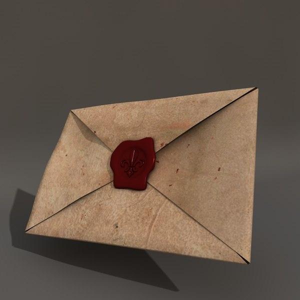 c4d old letter seal
