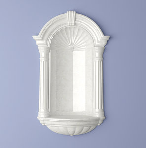 wall niche classic 3d max