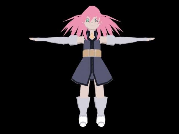 anime character x free