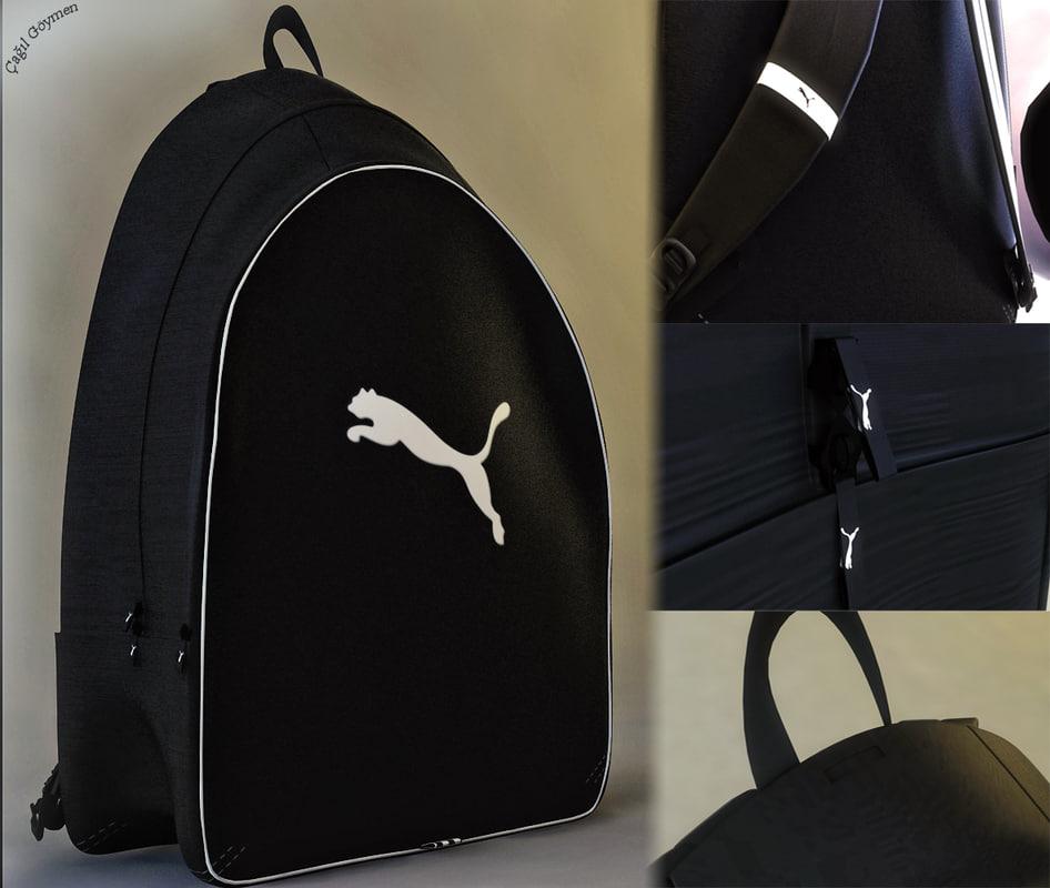 3d puma backpack model