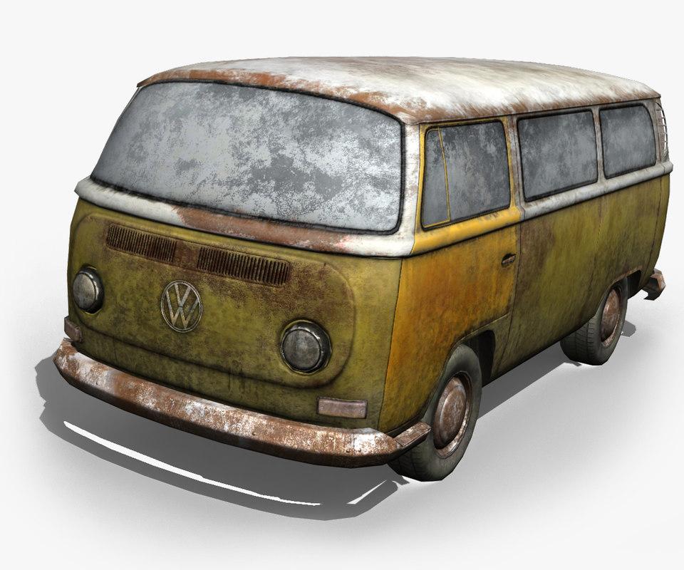3d model volkswagen microbus