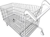 free shopping trolley 3d model