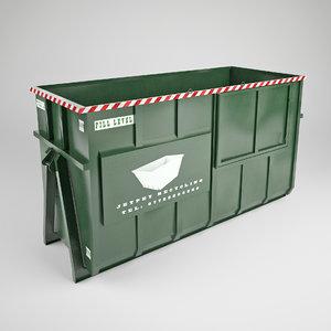 3d green skip model