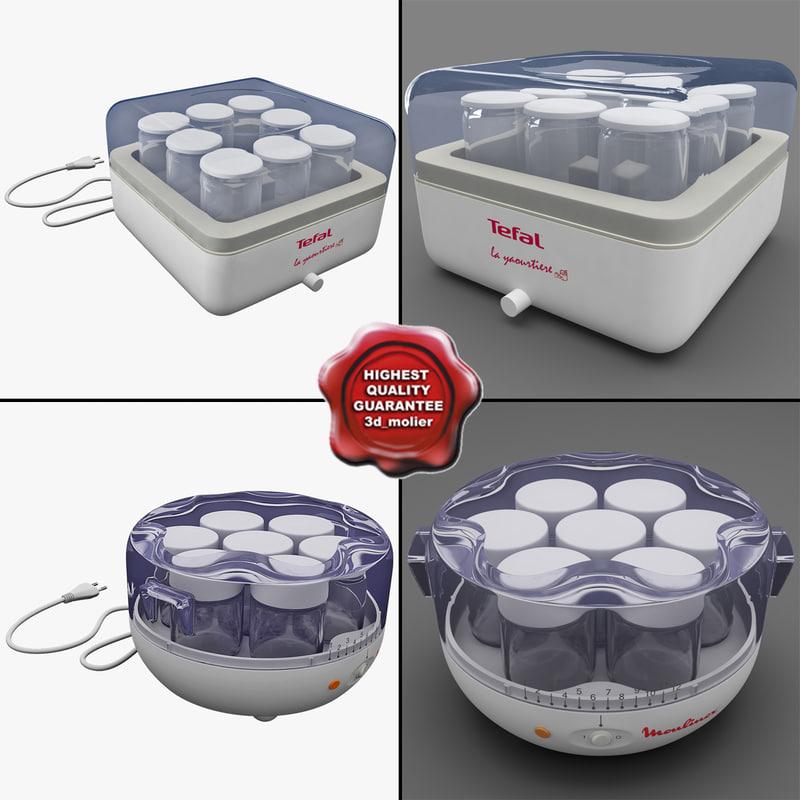 yogurt makers 3d c4d