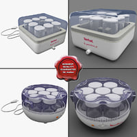 yogurt makers 3d c4d