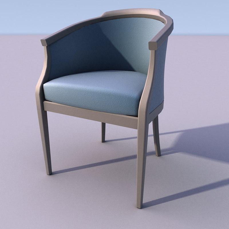 chair armchair 3d obj