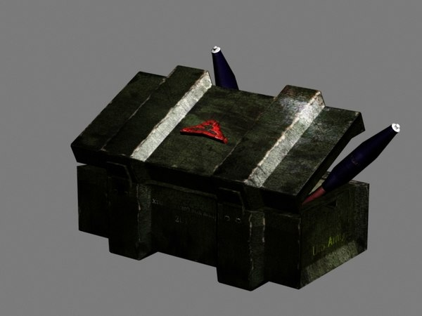 free 3ds model ammo box