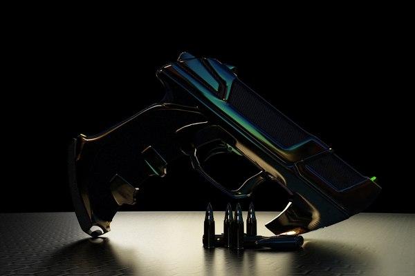 3d model c 1 handgun