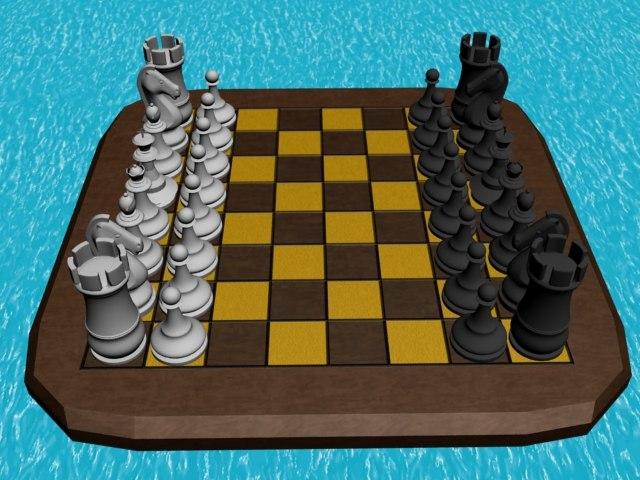 3d chess chessboard