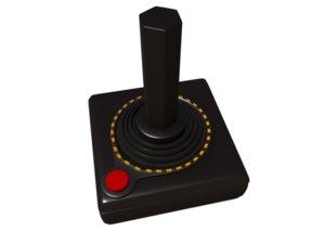 atari controller 3d model