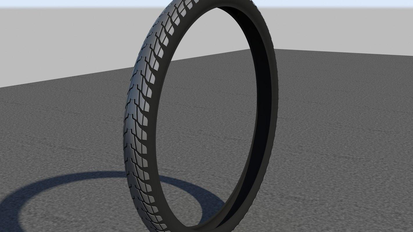 3d remake bmx tyre model