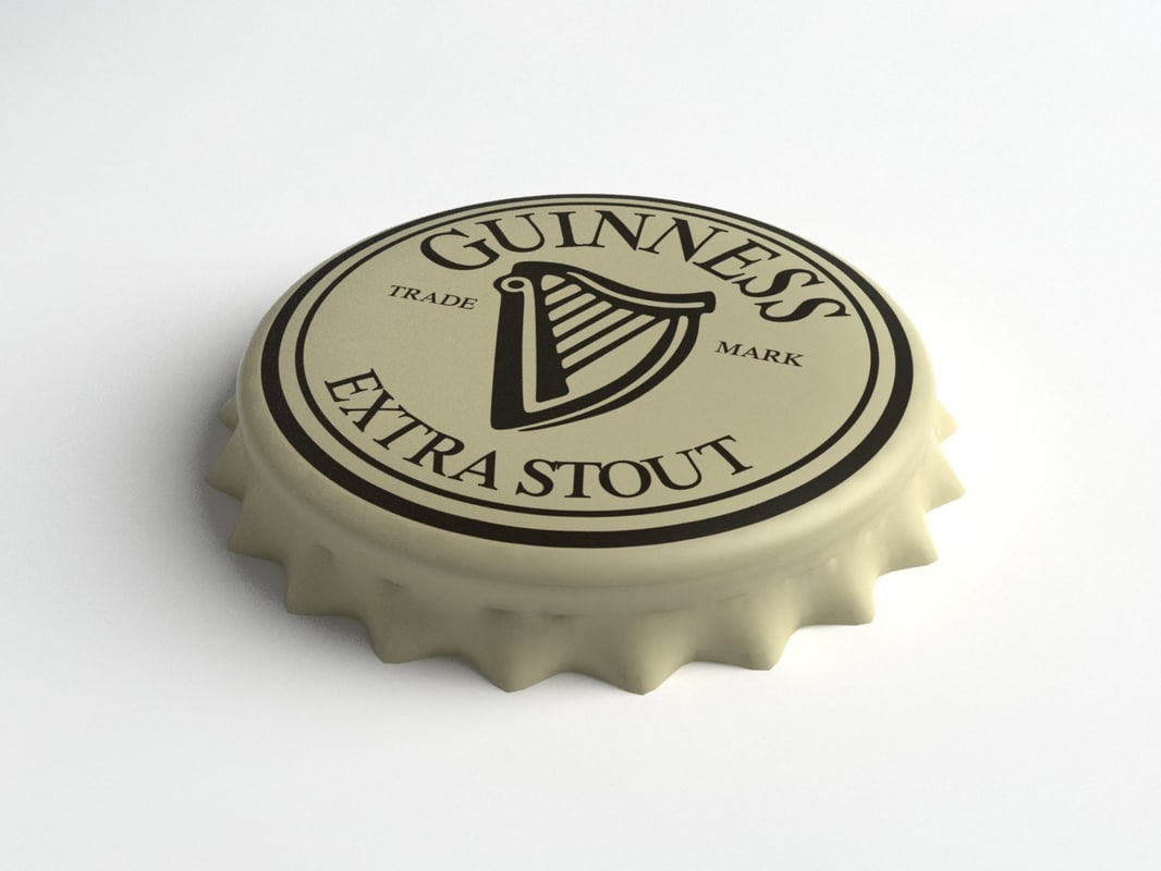 3d ma guinness beer bottle tin