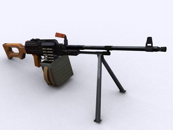 3d pkm gun model