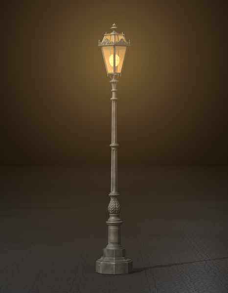 street lamp 3d 3ds