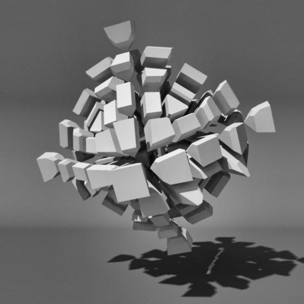 voronoi tessellation abstract 3d ma