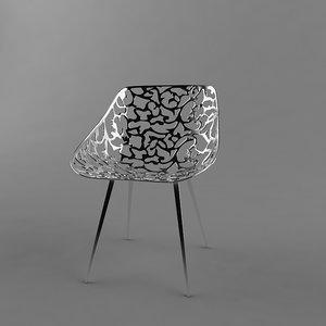 3d miss lacy chair designer model