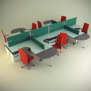 obj cubicle workstation