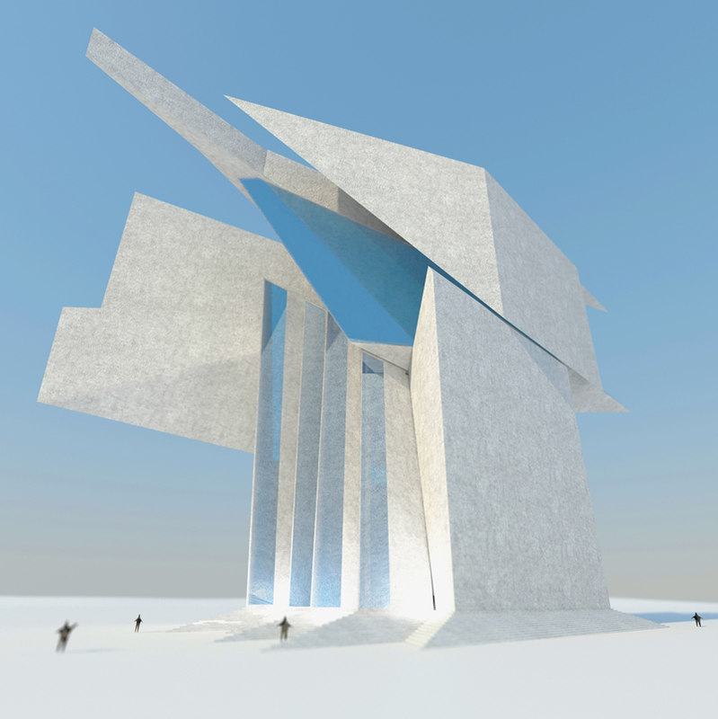 3d futuristic architecture building