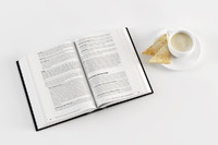 3d model opened book coffee toast