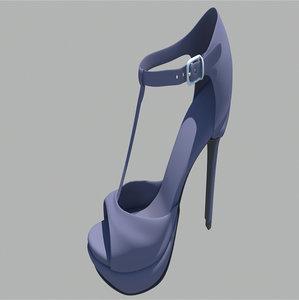 woman shoe obj