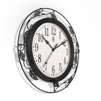 analog decorative wall clock obj